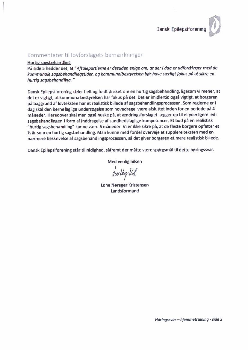 L 117 2015 16 Bilag 1: Høringssvar og høringsnotat, fra