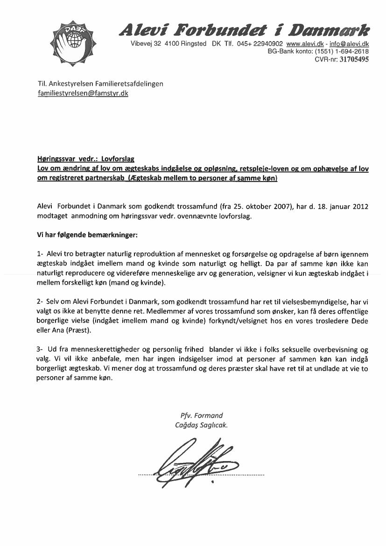 L 105 - 2011-12 - Bilag 15: Revideret høringssvar på L 106